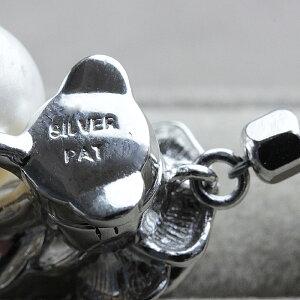 ネックレスレディースパール6月誕生石淡水パールネックレスSILVERシルバーブラックスピネルバラマグネット式金具真珠1連一連