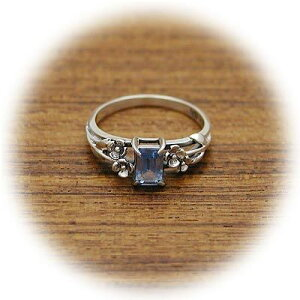 CLANG-CLANG クラングクラング シルバー リング 指輪 アクアマリン ホワイト 彼女 レディース