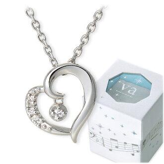 VA Vendome Aoyama銀子項鏈鑽石心20幾歲的30幾歲的她女士女性生日禮物紀念日禮物包妻子玩笑喜愛的howaitodevuievandomuaoyama