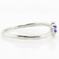 プラチナリングカラーストーンリング月モチーフ一粒ムーンリング誕生石指輪Pt9001号~お守りパワーストーンギフト