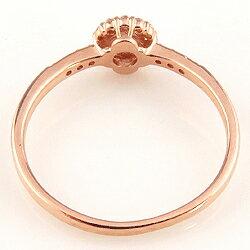 エメラルドリング指輪取り巻き5月誕生石18金K18ピンキーリングカラーストーンギフト【_包装】【_名入れ】