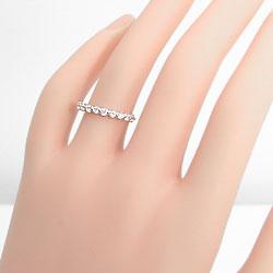 ピンキーリング ダイヤモンド エタニティリング イエローゴールドK18 指輪 18金 10石 天然ダイヤモンド 文字入れ 刻印 可能 ギフト