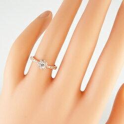 ダイヤモンドリング指輪太陽デザインDiamond取巻き10金K10WGK10PGK10YGアンティーク太陽アクセサリーギフト