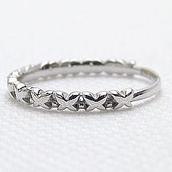 バタフライリングエタニティリング蝶10金指輪ホワイトゴールドK10ピンキーリングファランジリングミディリング究極指輪ギフト