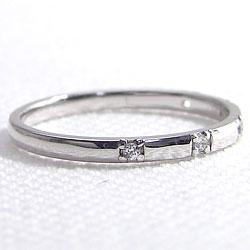 ピンキーリング スリーストーン ダイヤモンドリング ゴールドK18 18金 究極リング 指輪 シンプル ストレート レディースリング 婚約指輪 究極diaring ギフト