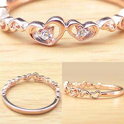 指輪18金ハートリングダイヤモンドピンキーリングK18WGK18PGK18YG人気diamondringネットショップ通販ギフト【_包装】【_名入れ】
