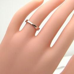 ピンクゴールドK10リング/結婚記念日/婚約/誕生日プレゼント/人気ピンキーリング/オシャレアイテム
