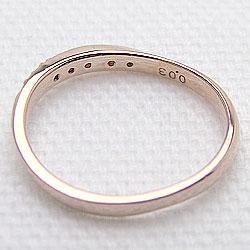 ピンキーリングピンクゴールドK18ダイヤモンドリングK18PG天然ダイヤモンド0.03ct記念日プレゼントアクセ文字入れ刻印可能ギフト
