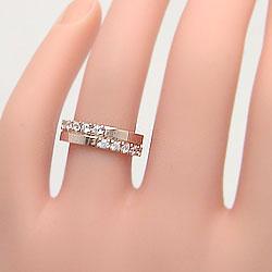 クロス ダイヤモンドリング 10金 ダイヤリング レディース 結婚指輪 十字架 指輪 K10 プロポーズ アクセサリーショップ ギフト