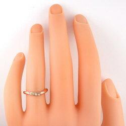 ダイヤモンドリングピンクゴールドK18K18PGジュエリーショップ記念日結婚式アクセサリーピンキーリング人気バースデーレディースプロポーズアクセサリーサプライズギフト贈り物