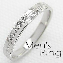 メンズダイヤモンドクロスリング/ホワイトゴールドK10/指輪K10WG/ジュエリーアイring