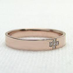 K10PGメンズリング天然ダイヤモンド十字架デザインピンクゴールドK10指輪オシャレメンズアクセサリー誕生日プレゼントクリスマスジュエリーショップ
