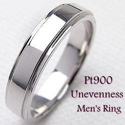 プラチナ900シンプルメンズリングPt900ラインデザインアクセサリーmen'sリングジュエリー男性用誕生日プレゼントギフト新生活在宅ファッション