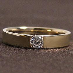 一粒ダイヤモンドメンズリング K10YG men'sアクセサリー 結婚式 jyueri- ショップ イエローゴールドK10 天然ダイヤモンド ギフト