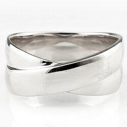 プラチナ メンズリング 指輪 クロス 交差 幅広 太い Pt900 men's ring シンプル 大人 アクセ ギフト