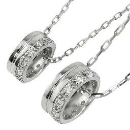 ペアネックレス シンプル プラチナ 天然 ダイヤモンド 12石 サークル 丸 ペンダント 2本セット ネックレス チェーン ペア Pt900 Pt850 婚約 結婚式 カップル ペアルック おすすめ プレゼント