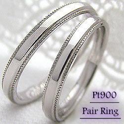 結婚指輪 プラチナ ペア マリッジリング ミル打ち ペアリング 結婚式 Pt900 2本セット 文字入れ 刻印 可能 婚約 結婚式 ブライダル ウエディング ギフト:ジュエリーアイ