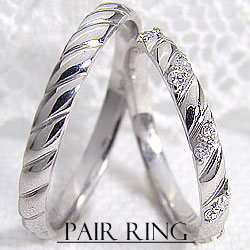 結婚指輪 マリッジリング ダイヤモンド ホワイトゴールドK18 ペアリング K18WG 0.10 d2本セット 刻印 文字入れ可能 ブライダル ウエディング ギフト:ジュエリーアイ