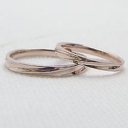 結婚指輪ゴールドデザインリングペアリングピンクゴールドK10マリッジリング10金2本セットペア文字入れ刻印可能婚約結婚式ブライダルウエディング