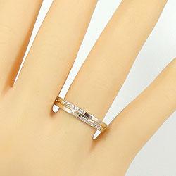 クロスマリッジリングダイヤモンドイエローゴールドK10ホワイトゴールドK10結婚指輪ペアリング結婚式K10YGK10WGジュエリーアイdiaring刻印文字入れ可能人気安い2本セットブライダルアクセサリーギフト