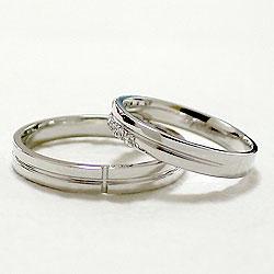 クロスマリッジリングダイヤモンドホワイトゴールドK10結婚指輪ペアリング結婚式K10WGジュエリーアイ刻印文字入れ可能2本セットブライダルアクセサリーギフト