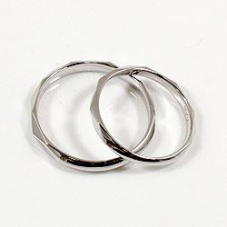 ペアリング/ホワイトゴールドK18/結婚/マリッジリング/記念日/K18WG/ひし形/pairring