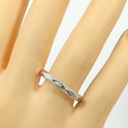 結婚指輪マリッジリングホワイトゴールドK18マリッジリングK18WGひし形2本セット18金文字入れ刻印可能婚約結婚式ブライダルウエディングギフト