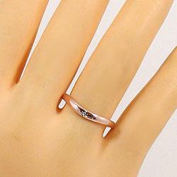 一粒ダイヤモンド ペアリング ピンクゴールドK18 ホワイトゴールドK18 結婚指輪 マリッジリング 18金 pair ring 刻印 文字入れ 可能 2本セット ブライダル ギフト