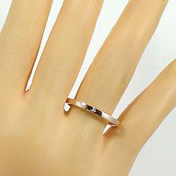 天然ダイヤモンドマリッジリングピンクゴールドK18結婚ペアリングK18PGストレートpairring刻印文字入れ可能人気安い2本セットブライダルアクセサリーギフト