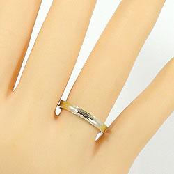 マリッジリング結婚指輪イエローゴールドK18ホワイトゴールドK18婚約記念日ペアリングK18YGK18WGpairring刻印文字入れ可能人気安い2本セットブライダルアクセサリーギフト