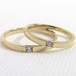 ダイヤモンドペアリング/イエローゴールドK10/婚約/記念日/マリッジリング/天然ダイヤモンド/K10YG/pairring
