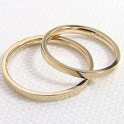 K18YG 一石 ダイヤモンド ペア リング イエローゴールドK18 結婚 指輪 婚約 記念日 マリッジリング 天然ダイヤモンド アクセサリー 2本 セット ショップ pairring ショップ 刻印 文字入れ 可能 ギフト