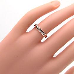 クロスマリッジリングイエローゴールドK10ホワイトゴールドK10結婚指輪K10YGK10WG天然ダイヤモンドミル打ち十字架刻印文字入れ可能人気安い2本セットブライダルアクセサリーギフト