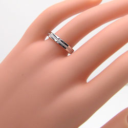 結婚指輪ゴールドペアクロスマリッジリングホワイトゴールドK10K10WG天然ダイヤモンドミル打ち十字架ペアリング2本セット
