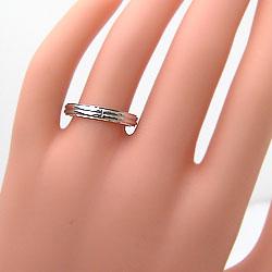 イエローゴールドK18ホワイトゴールドK18マリッジリングK18YGK18WG十字架ペアリング結婚指輪婚約ギフト