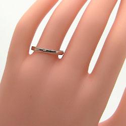 ミル打ちダイヤマリッジリングピンクゴールドK10K10PG天然ダイヤモンドミル打ちペアリング結婚指輪記念日ジュエリーアイギフト