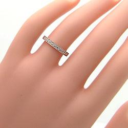 ミル打ちダイヤマリッジリングK10PGK10WG天然ダイヤモンドペアリング結婚指輪ピンクゴールドK10ホワイトゴールドK10ジュエリーアイ刻印文字入れ可能人気安い2本セットブライダルアクセサリーギフト