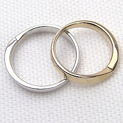 K18YG K18WG マリッジリング 結婚指輪 イエローゴールドK18 ホワイトゴールドK18 ペアリング ギフト