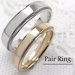 K10YG K10YG マリッジリング オシャレ ring 指輪 イエローゴールドK10 ホワイトゴールドK10 結婚 婚約 ペアリング 人気 ジュエリーアイ 刻印 文字入れ 可能 人気 安い 2本セット ブライダル アクセサリー ギフト:ジュエリーアイ