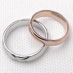 結婚指輪 キルティング ペアリング マリッジリング ピンクゴールドK18 ホワイトゴールドK18 2本セット 文字入れ 刻印 可能 婚約 結婚式 ブライダル ウエディング ギフト