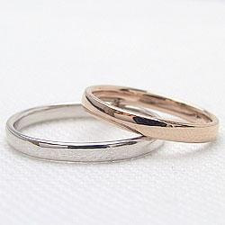 平甲丸2.5mmマリッジリング/ピンクゴールドK10/ホワイトゴールドK10/ブライダル/ペアリング/結婚指輪/ご婚約/アクセサリーショップ/人気