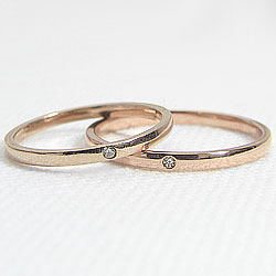 マリッジリング/ピンクゴールドK10/ダイヤモンドペアリング/K10PG/婚約/結婚/指輪/記念日/誕生日/ジュエリーアイ