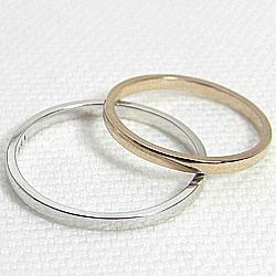 ダイヤモンドマリッジリング/K18YG/K18WG/ペアリング/イエローゴールドK18/ホワイトゴールドK18/結婚指輪