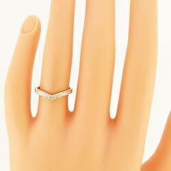 マリッジリングペアリング2本セット結婚指輪天然ダイヤモンドエタニティハーフVライン18金ホワイトピンクイエロー結婚式ブライダル人気【_包装】【_名入れ】