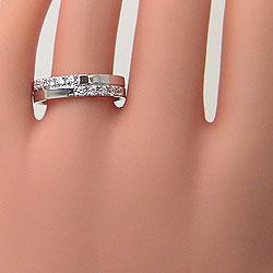 イエローゴールドK18ホワイトゴールドK18マリッジリング天然ダイヤモンドクロス十字架結婚指輪アクセサリープレゼントにギフト