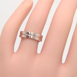 結婚指輪ゴールドクロス幅広ペアリングシンプルピンクゴールドK10ホワイトゴールドK10マリッジリング10金2本セットペア文字入れ刻印可能婚約結婚式ブライダルウエディングギフト
