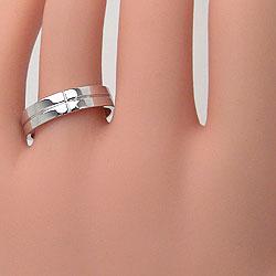 結婚指輪クロスダイヤモンドマリッジリングホワイトゴールドK18K18WGペアリング2本セット18金文字入れ刻印可能婚約結婚式ブライダルウエディングギフト