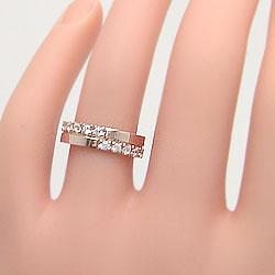 クロスマリッジリングイエローゴールドK18ホワイトゴールドK18天然ダイヤモンドペアリング指輪アクセサリージュエリーアイ記念日プレゼントにギフト