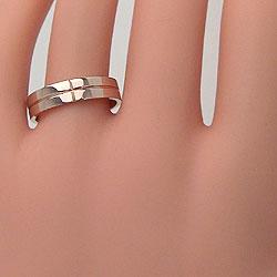 クロスダイヤマリッジリングピンクゴールドK18K18PGペアリング結婚指輪アクセサリージュエリーショップ天然ダイヤモンドギフト