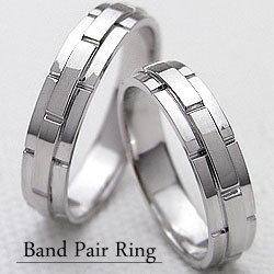バンドデザインマリッジリング/ホワイトゴールドK18/ペアリング/結婚指輪/K18WG/指輪/ベルト/アクセサリー/ジュエリーショップ